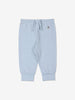 Unisex Blue Organic Cotton Newborn Baby Trousers