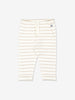 Unisex Natural Newborn Baby Striped Trousers