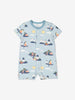 Boy Blue GOTS Organic Seaside Print Onesie Pyjamas