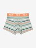 Boy Green Boys Striped Boxer Shorts