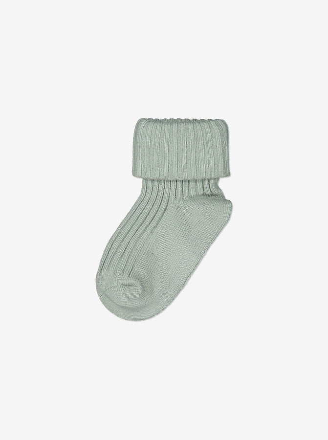 Unisex Green Soft Baby Socks