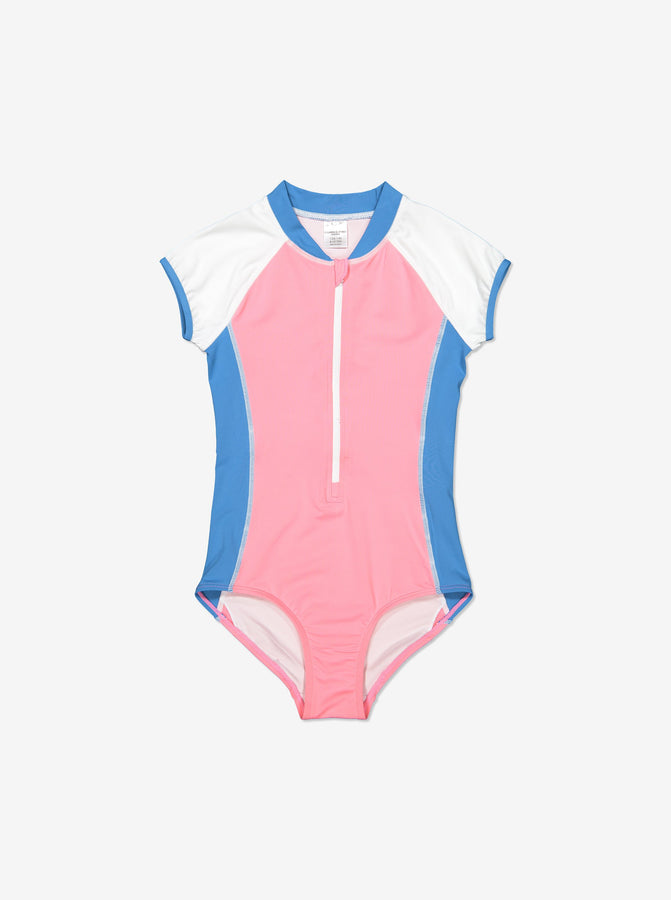 Short Sleeved Kids Swimsuit
