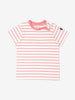 Unisex Beige Kids Organic Striped T-Shirt