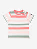 Girl Beige Kids Multi Striped T-Shirt