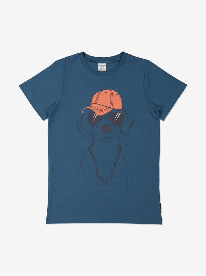 Boy Blue GOTS Organic Dog Print T-Shirt