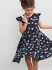 Scandi Floral Kids Dress