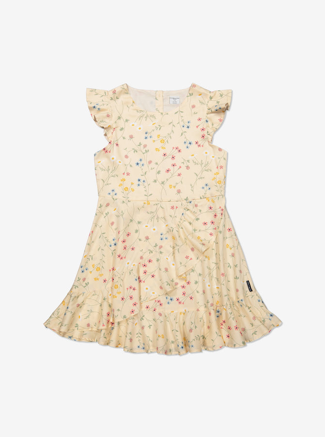 Girl White Kids Floral Dress