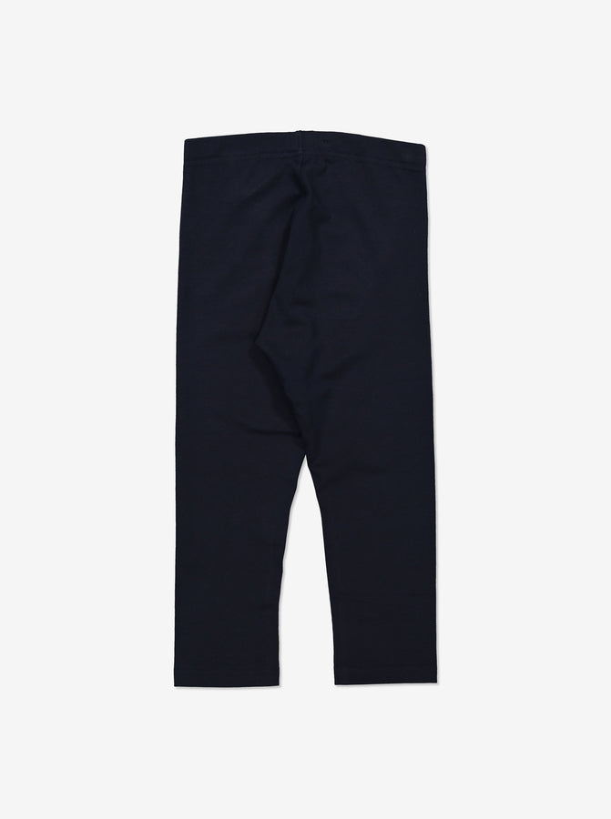 Girl Navy GOTS Organic Cropped Leggings