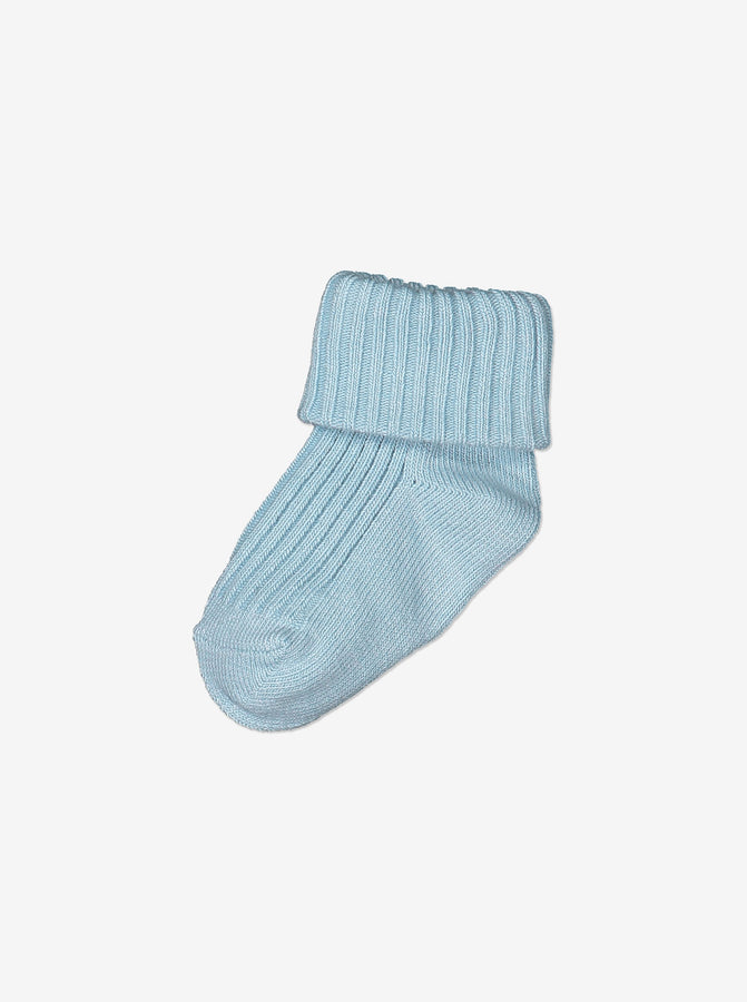 Newborn Baby Organic Cotton Blue Socks