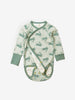Rabbit Print Organic Cotton Wraparound Baby Newborn Babygrow 0-1years Blue Unisex