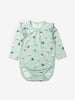 Frill Baby Newborn Babygrow 0-1years Blue Girl