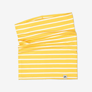 Kids Yellow Striped Neckwarmer