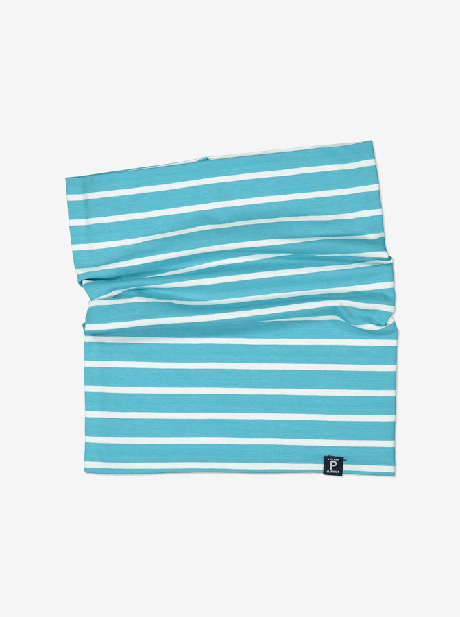 Kids Blue Striped Neckwarmer