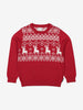 Organic Cotton Nordic Christmas Jumper 1-6years Red Unisex