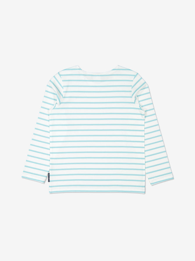 Unisex Navy Kids GOTS Organic Striped Top