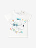 Girls White Kids GOTS Organic T Shirt
