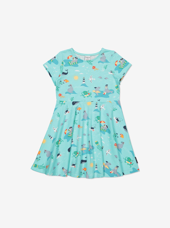 Girls Blue Kids Twirl Dress
