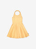 Girls Yellow Kids GOTS Halter Neck Spotty Dress