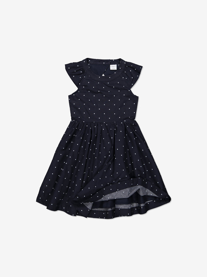 Girls Navy Kids Organic Cotton Dress