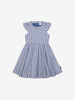 Girls Blue Kids Checked Organic Cotton Dress