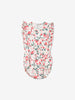Girls Natural Strawberry Print Newborn Babygrow