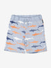 Boys Blue Kids Gots Organic Shark Print Shorts