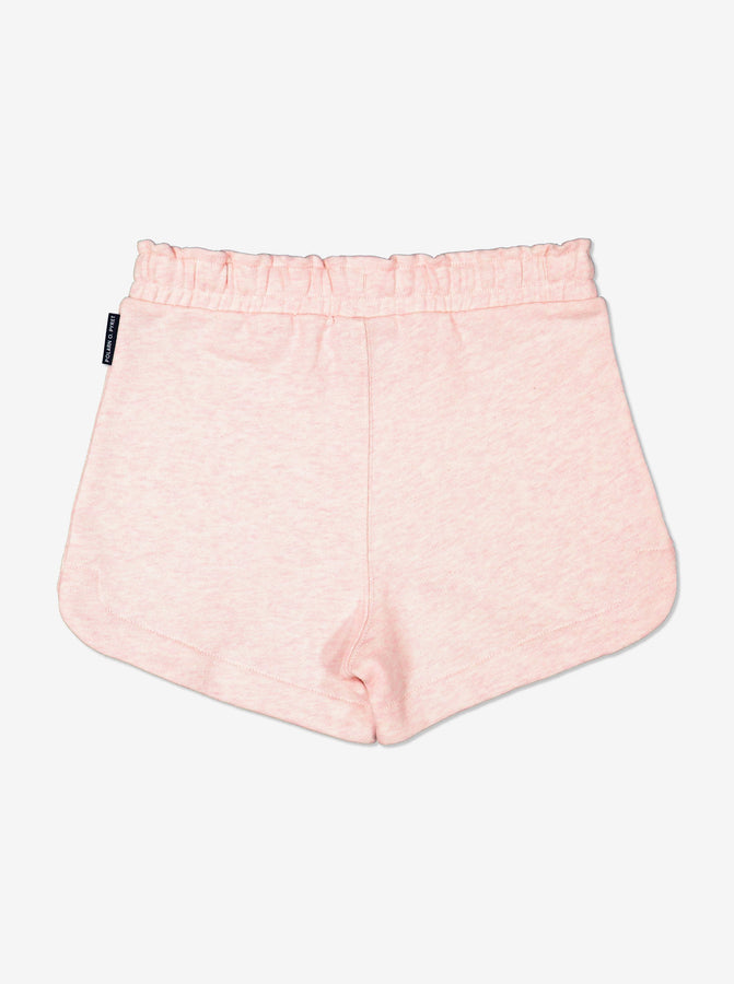 girls Pink Kids GOTS Organic Jersey Shorts