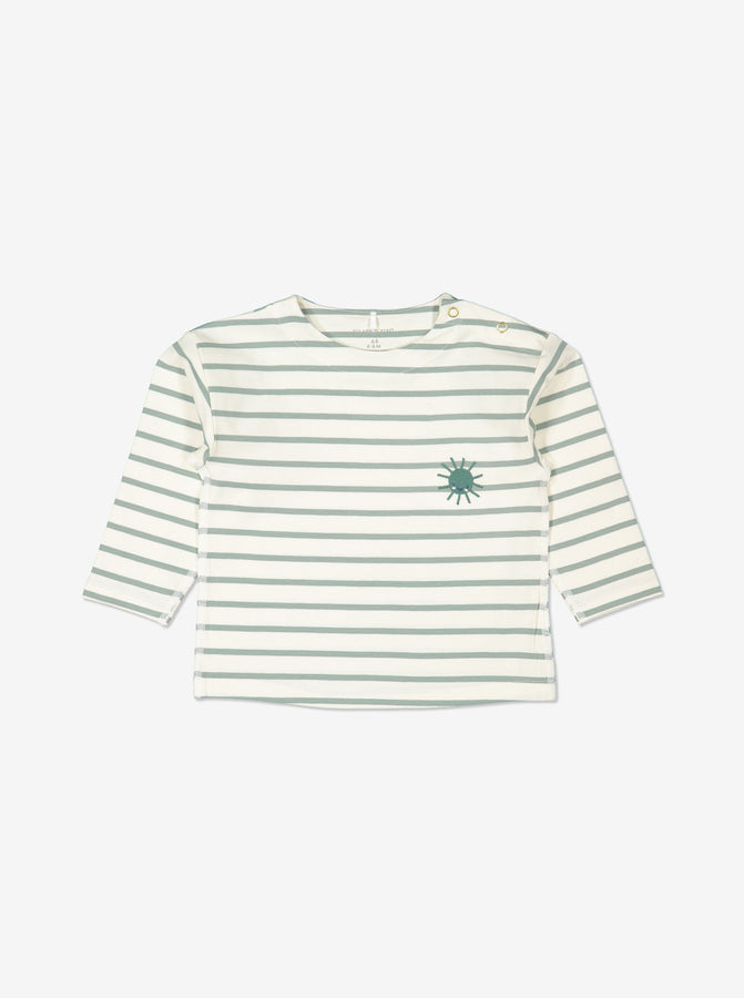 Unisex Green Striped GOTS Organic Top