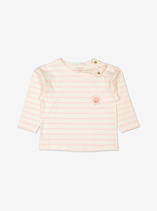 Girls Pink Striped GOTS Organic Top