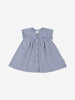 Girls Blue Newborn Baby Checked Organic Dress