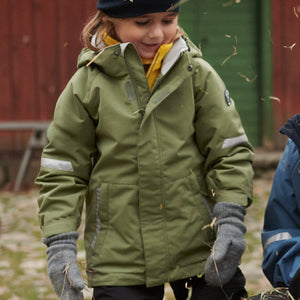Kids Green Waterproof Shell Jacket