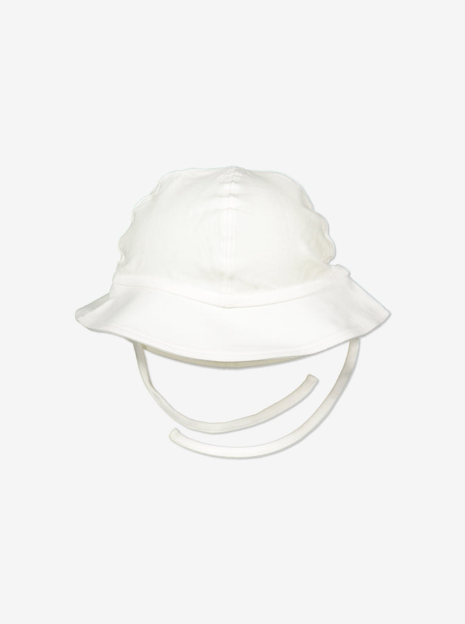 Unisex White Baby UV Sun Hat