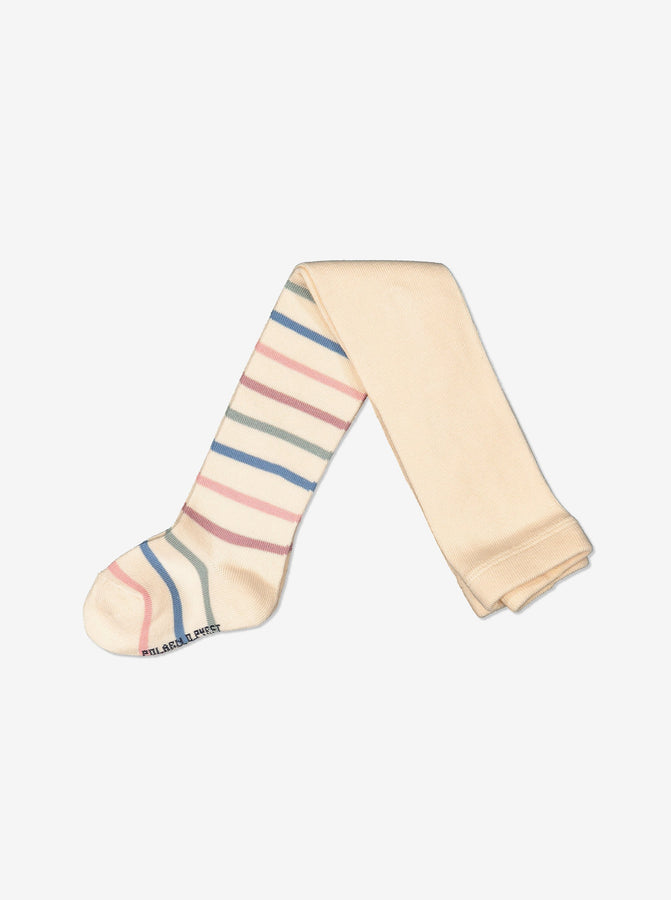 Newborn Baby Soft Striped White Tights