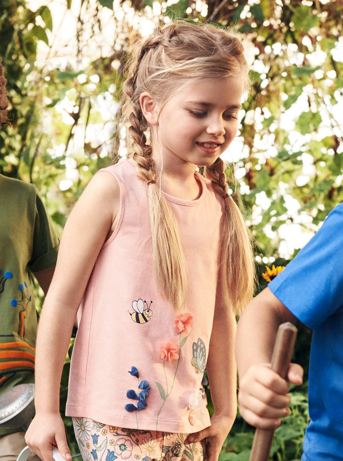 Bee & Butterfly Kids Vest Top