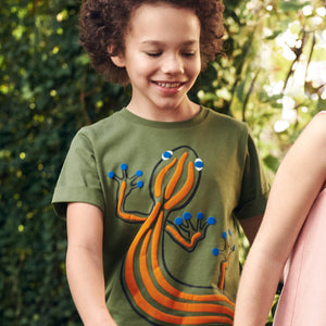 Lizard Print Kids T-Shirt