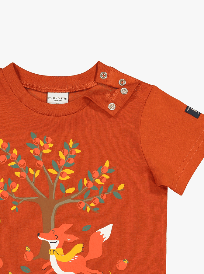 Organic Kids T-Shirt Fox Print