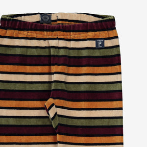 Striped Velour Kids Trousers