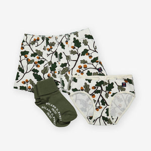 Acorn Print Girls Briefs
