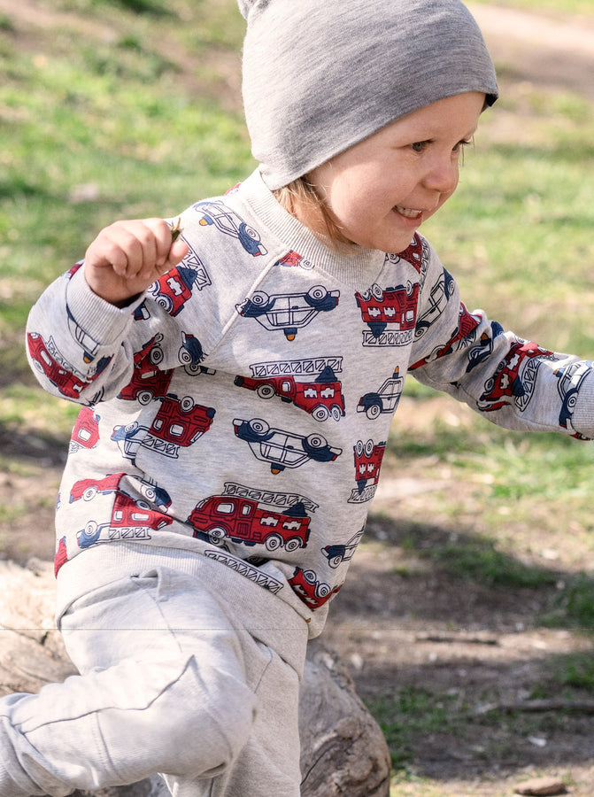 Vehicle Print Kids Sweatshirt