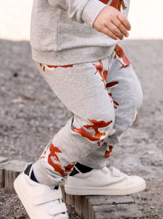 Playful Fox Kids Cuffed Leggings