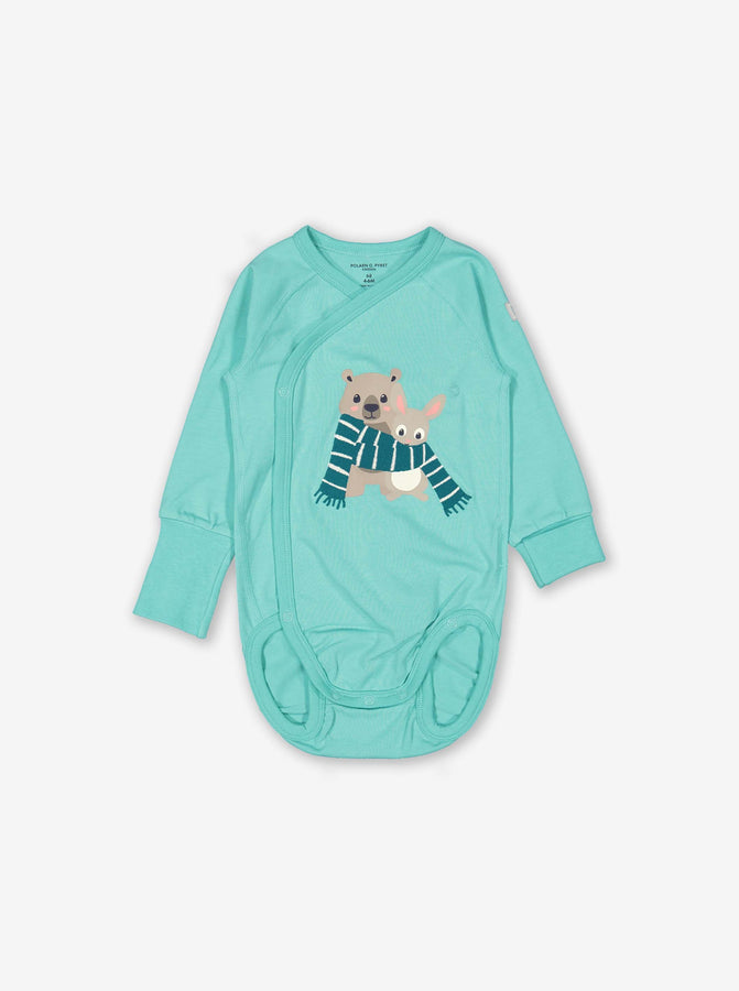 Cosy Friends Wraparound Baby Bodysuit
