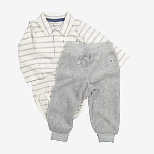 Striped Shirt Babygrow