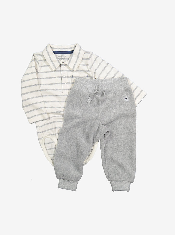 Soft Velour Baby Trousers