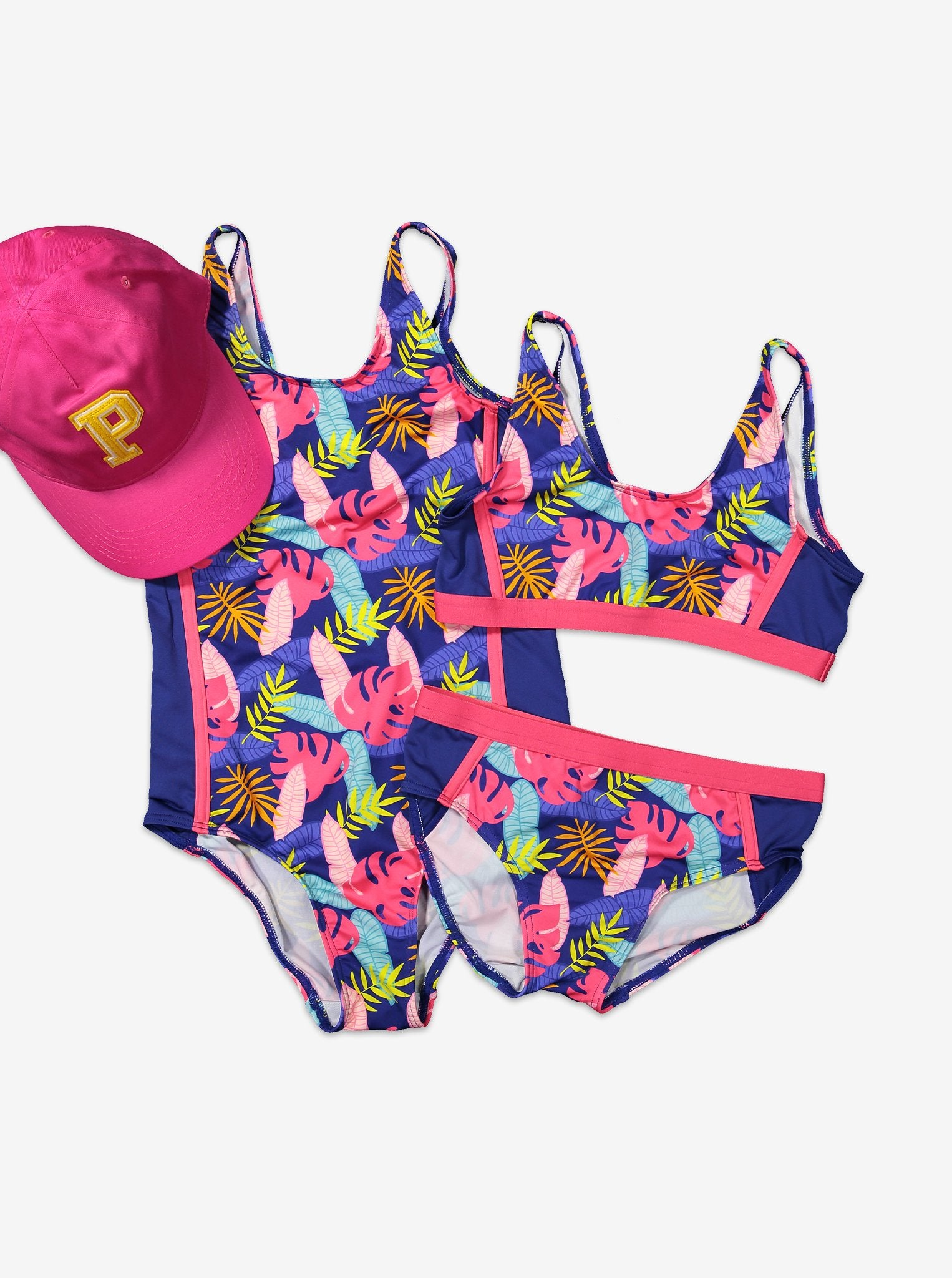 Tropical Print Kids Swimsuit