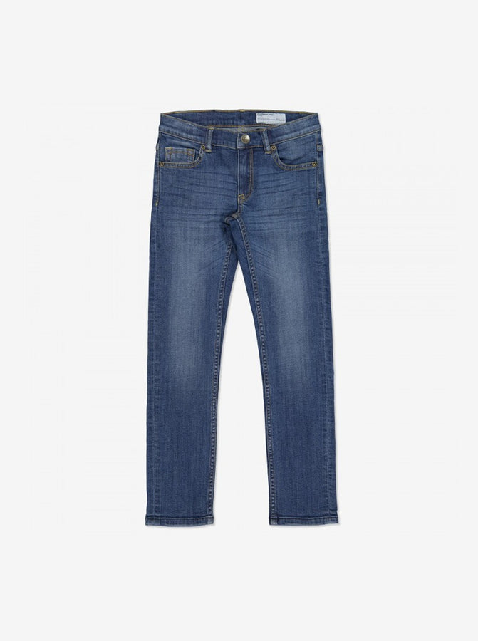 Mid Blue Slim Fit Kids Jeans