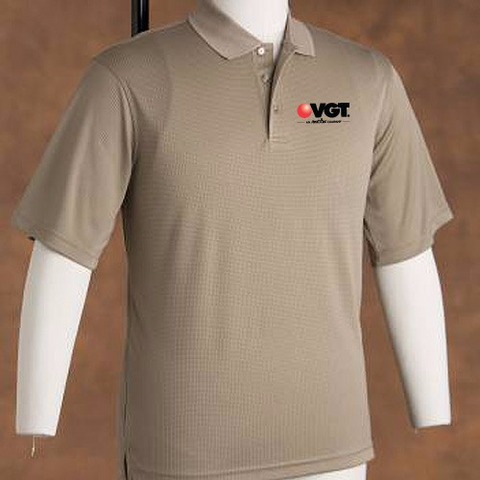 VGT Men's Grid Texture Short Sleeve Shirt  (PB7391)
