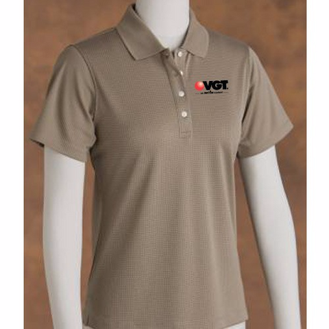 VGT Women's Grid Texture Short Sleeve Shirt   (PB7396)