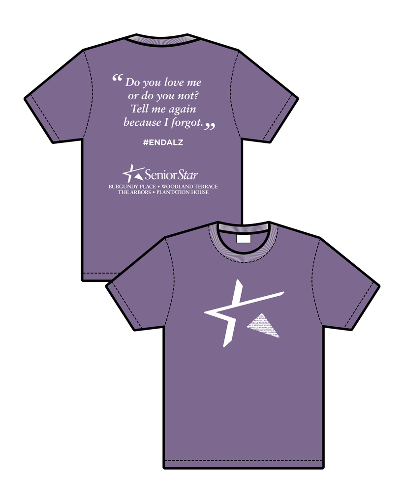 Senior Star - Walk To End Alzheimer's T-Shirt