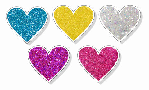 Special Occasions - Glitter Heart Add-Ons