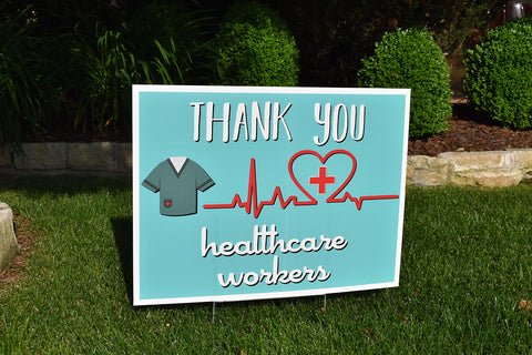 HEALTH CARE WORKERS - Thank You Rectangle